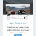 新デザインのTwitterプロフィールページ