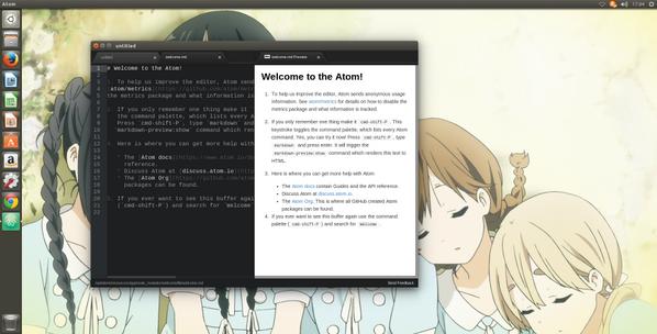 Ubuntu14.04LTSにAtomを入れてみた
